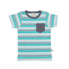 Round Necked Tee - Space Stripes