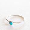 Turquoise Stack Ring - Sterling Silver