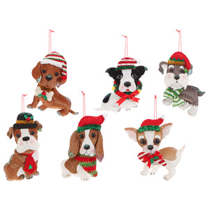 Plush Dog Ornaments