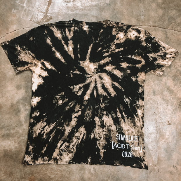 Oversized Graphic Tee | Bleach Dye