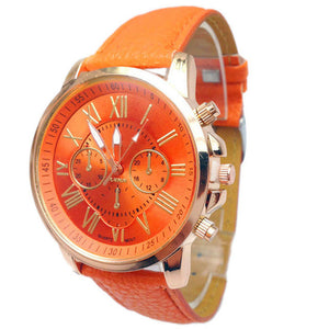 relojes mujer 2017 fashion watch luxury women geneva watch women pu Leather Analog Quartz Watch women Clock wristwatch women &03
