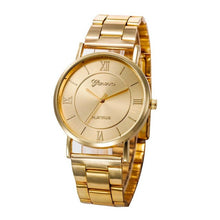 Load image into Gallery viewer, New Arrival Women Stainless Steel Analog Quartz Wrist Watch luxury Rose gold bracelet original Wrist watches relogio feminino