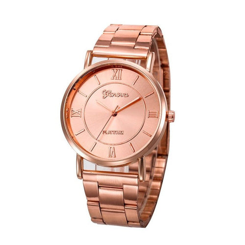 New Arrival Women Stainless Steel Analog Quartz Wrist Watch luxury Rose gold bracelet original Wrist watches relogio feminino