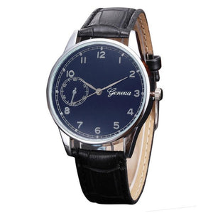Fashion Brand Luxury Casual Sport Watch Men Genuine Retro Design Leather Quartz Wrist Watch Male Watches Quartz-Watch