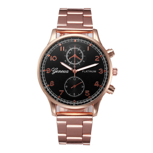 2017 Luxury Fashion Men Watches Stainless Steel Analog Quartz Wrist Watch Bracelet montre hommes relogio masculino #912