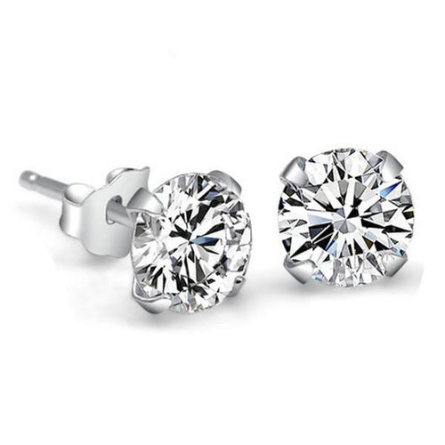 Crystal Stud Earrings - 4mm