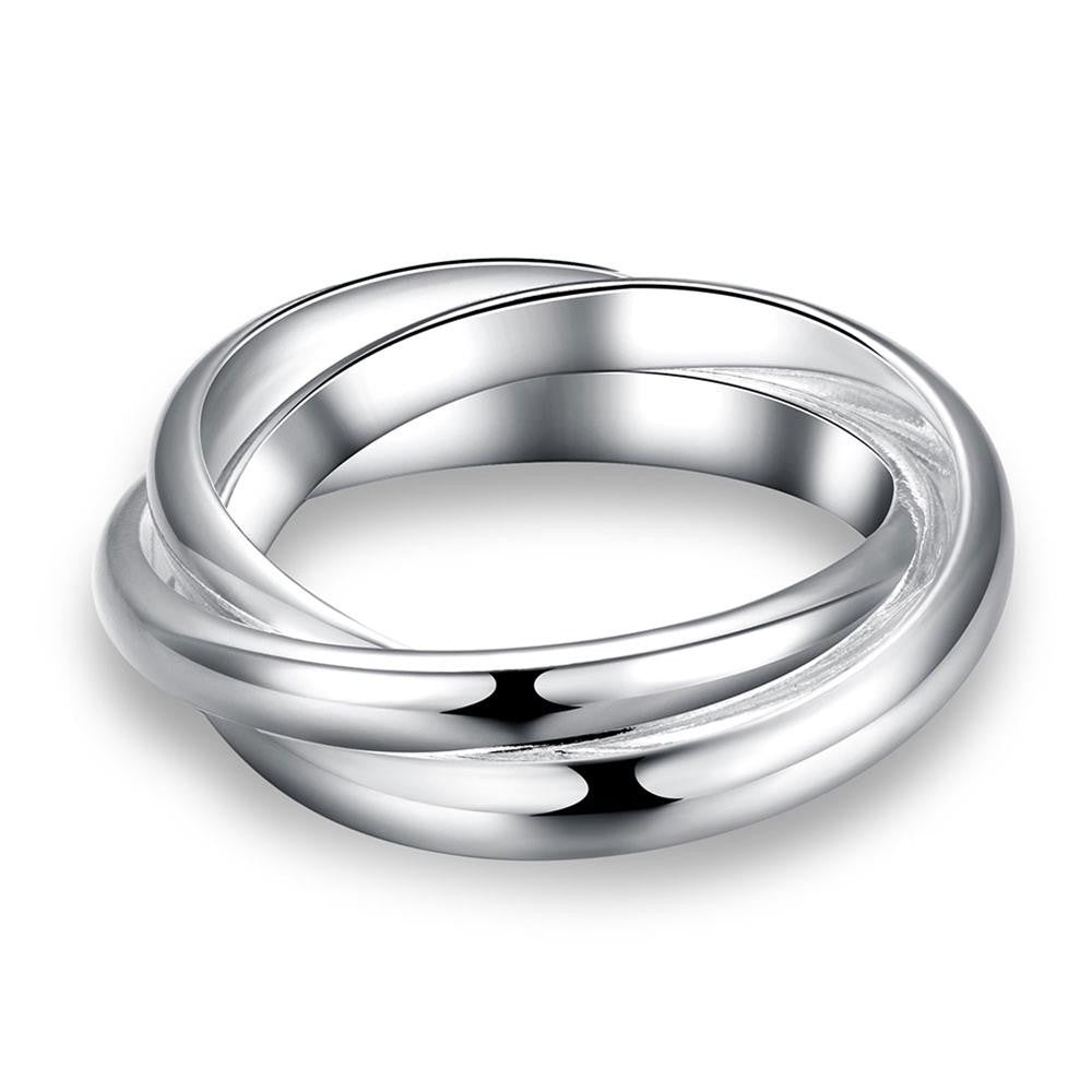 Rolling Bands Ring in White Gold