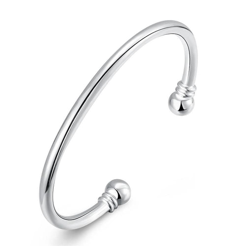 Classic Bangle in 18K White Gold Plated
