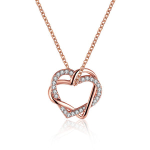 Rose Gold Plated Crystal Inlay Necklace