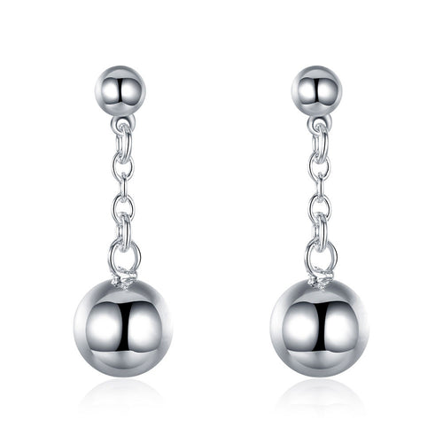 18K White Gold Plated Drop Drop Pearl Earring
