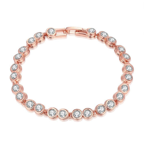 Around the World 18K Rose Gold Plated Bracelet