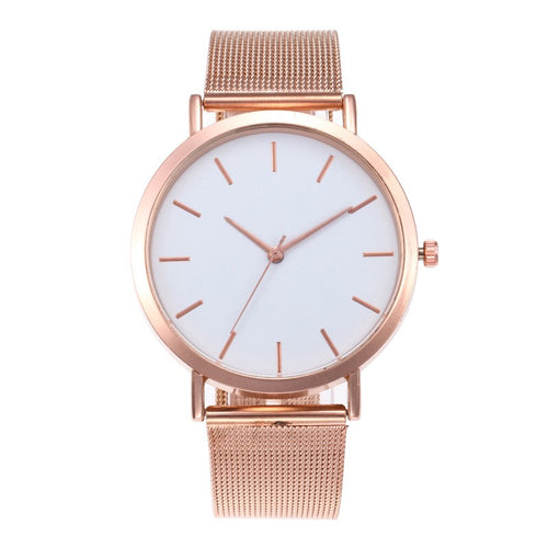 Luxury Watch Women Rose Gold Stainless Steel Women's Watches Fashion Quartz Wrist Watch
