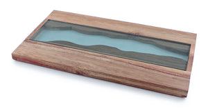 Swissmar Acacia and Glass Serving Board product shot