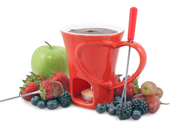 Swissmar Sweetheart 4 Pc Chocolate Fondue Mug Set
