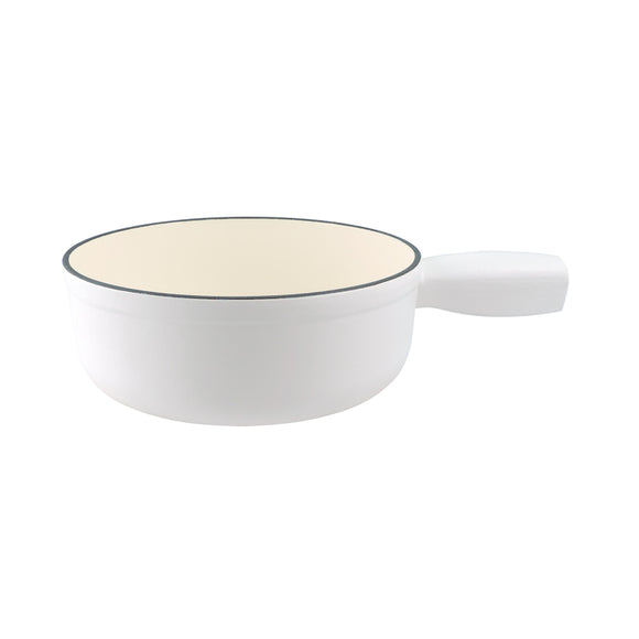 Swissmar Lugano Cast Iron Replacement Pot in Matte White Product Shot