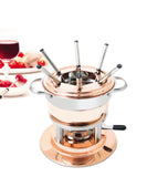 Swissmar Lausanne 11 Pc Copper Fondue Set with all pieces together