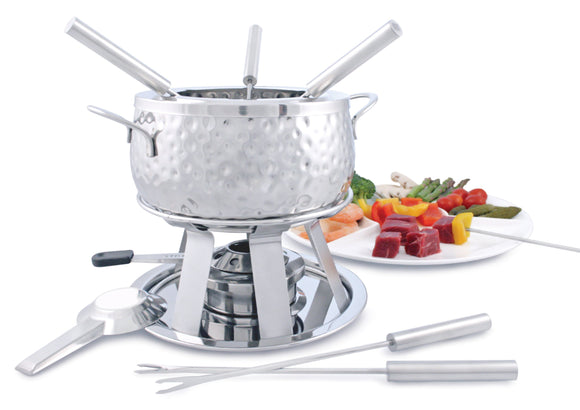 Swissmar Bienne 11 Pc Stainless Steel Fondue Set