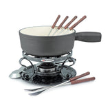 Swissmar Lugano 9 Pc Cast Iron Fondue Set Matte Black Product Shot