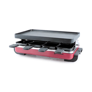 Swissmar 8 Person Classic Raclette Party Grill with Cast Aluminum Top red product shot