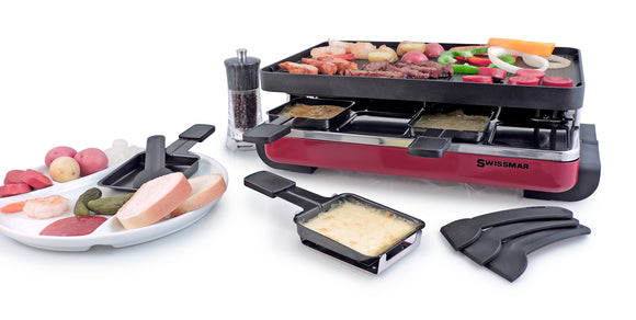 Swissmar 8 Person Classic Raclette Party Grill with Cast Aluminum Top