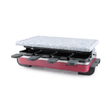 Swissmar 8 Person Red Classic Raclette Party Grill with Granite Stone Grill Top product shot
