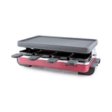Swissmar 8 Person Classic Red Raclette Party Grill with Reversible Cast Iron Grill Plate product shot