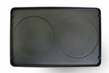 Swissmar Cast Iron Reversible Grill Plate product shot showing crepe side
