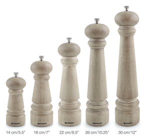 Swissmar Manor Vintage Finish Wood Mill Product Shot Comparing Sizes