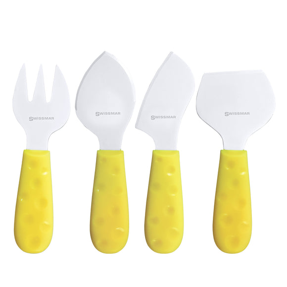 Cheese Knife Set | 4-Piece Petite Suisse - Soleil | Swissmar