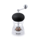 Swissmar Nutmeg Mill with Crank Handle in Black with Nutmeg inside