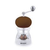 Swissmar Nutmeg Mill with Crank Handle in Brown with nutmeg inside
