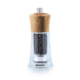 Salt and Pepper Mill | Clear Acrylic with Olive Wood Top | Torre | Swissmar