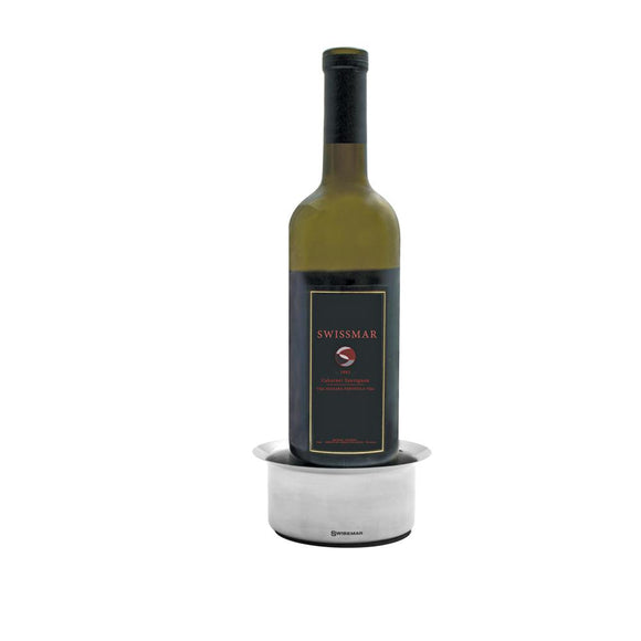 Swissmar Wine Coaster product shot with a bottle of wine inserted in it