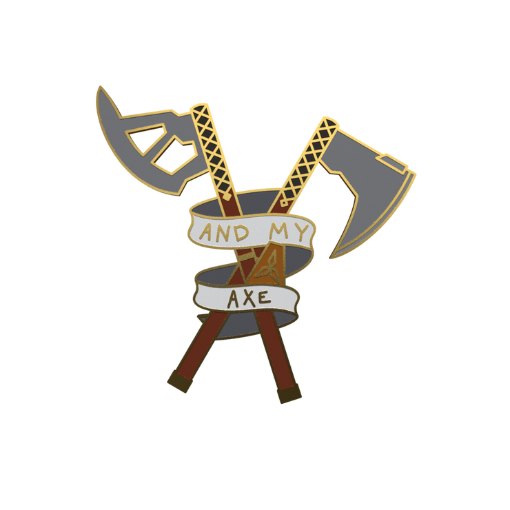 And My Axe - Lord of the Rings Enamel Pin