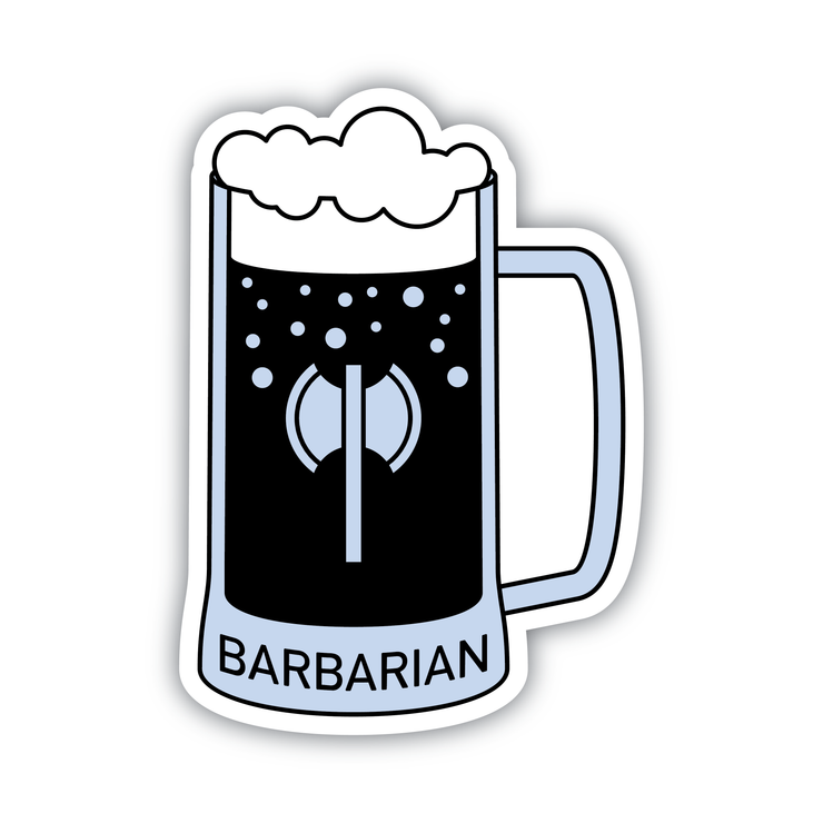 Glass Classes Barbarian Sticker