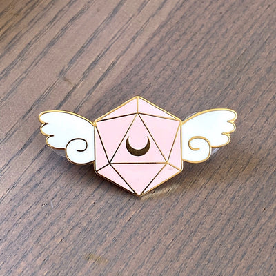Winged D20 - Dungeons & Dragons Enamel Pin