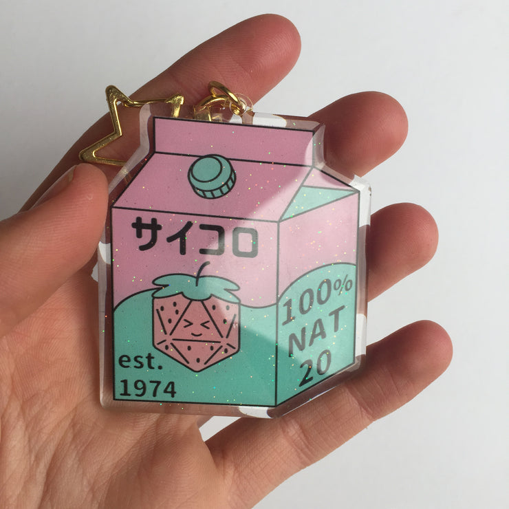 Dice Box Acrylic Charm