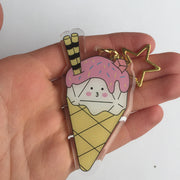 Dice Cream Acrylic Charm