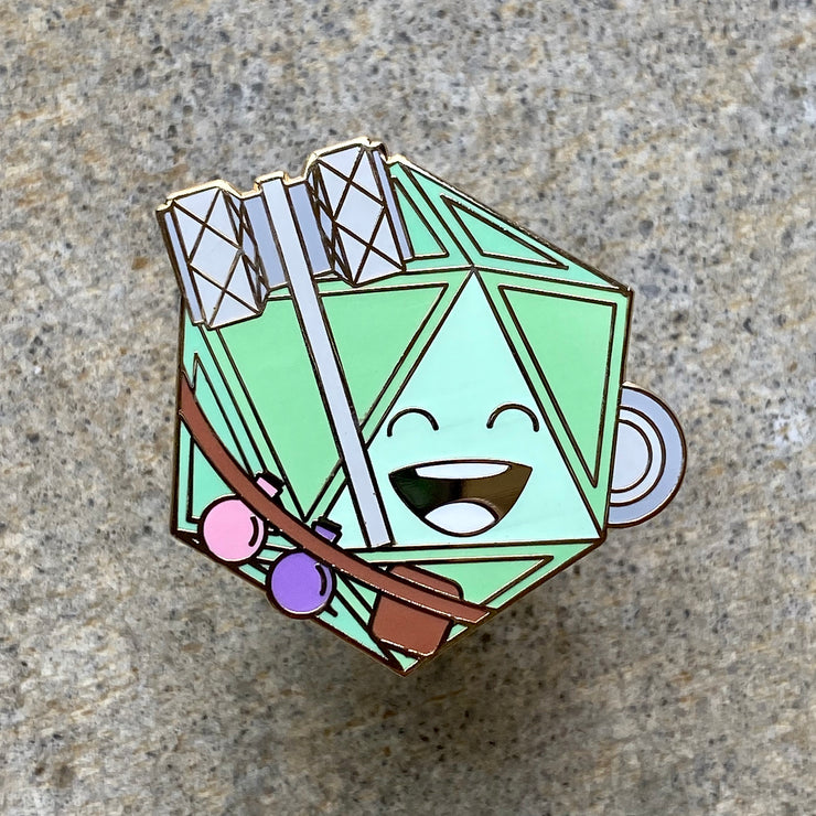 Healer Dice - Dungeons and Dragons Enamel Pin