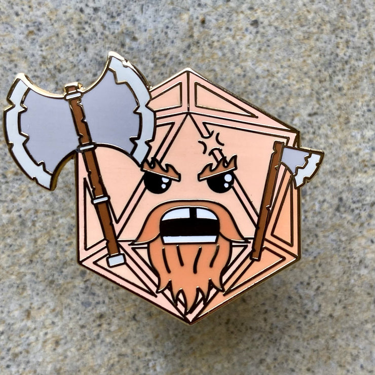 Barbarian Dice - Dungeons and Dragons Enamel Pin