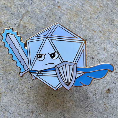Warrior Dice - Dungeons & Dragons Enamel Pin