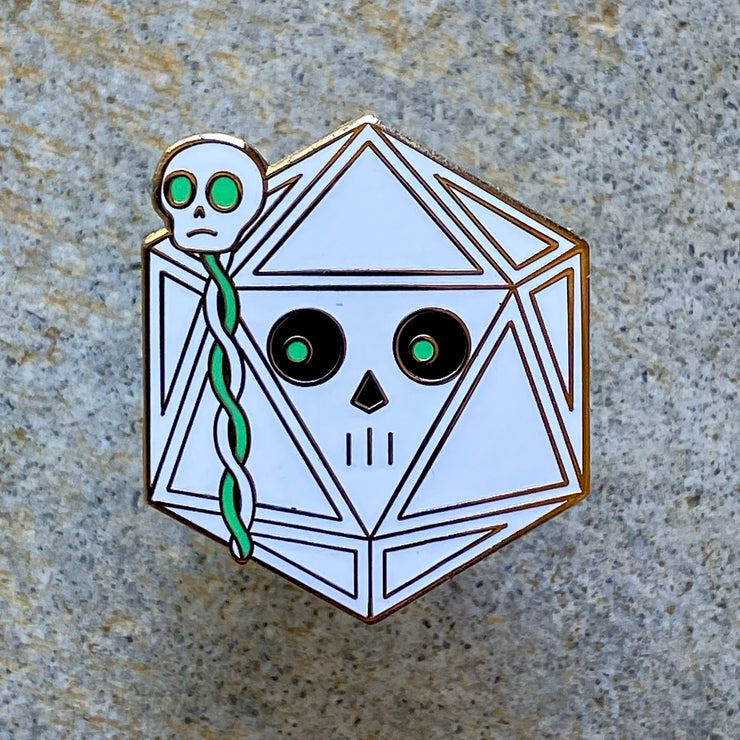 Lich Dice - Dungeons and Dragons Enamel Pin