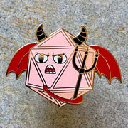 Demon/Devil Dice - Dungeons and Dragons Enamel Pin