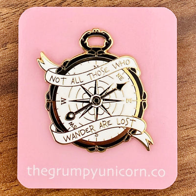 Compass Lord of the Rings Enamel Pin