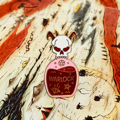 Glass Classes Warlock - Dungeons and Dragons Enamel Pin