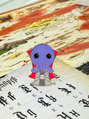 Kawaii Mind Flayer - Dungeons and Dragons Enamel Pin