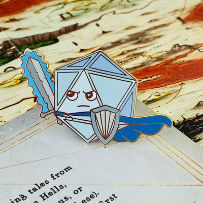 Warrior Dice - DnD Enamel Pin