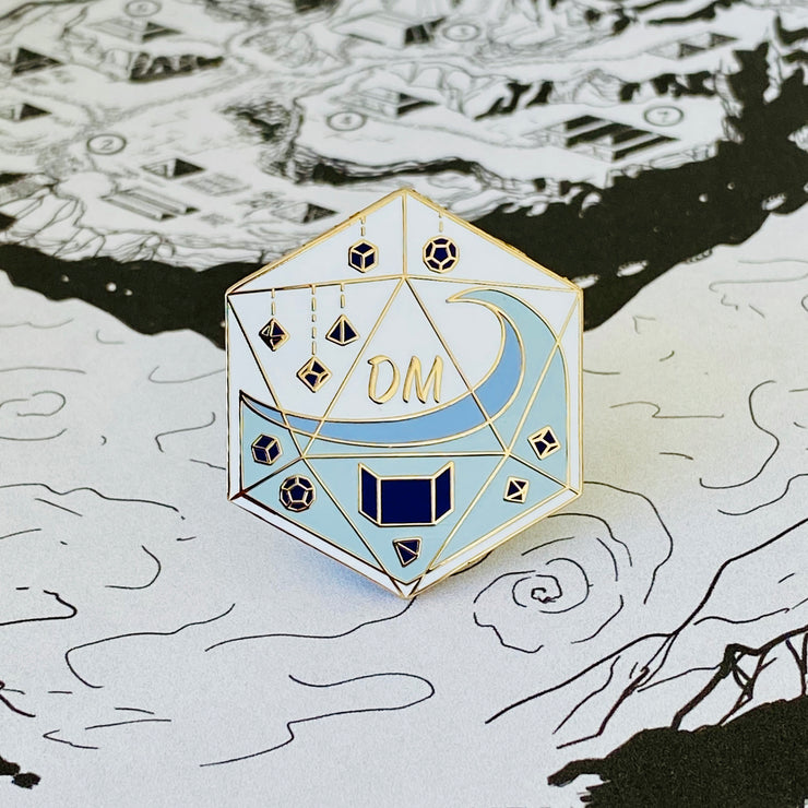Glass Classes Dungeon Master - DnD Enamel Pin
