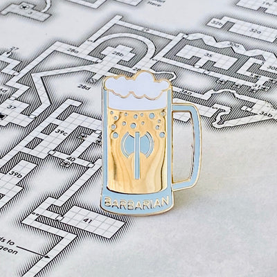 Glass Classes Barbarian - Dungeons and Dragons Enamel Pin
