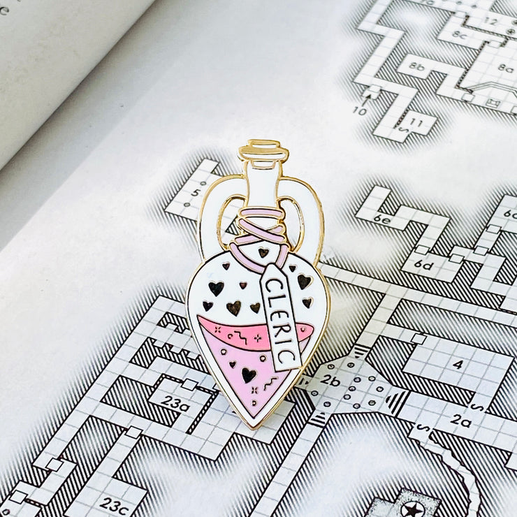 Glass Classes Cleric Pin